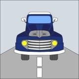 Retro samochodowy błękitny kolor Zdjęcia Stock
