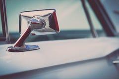 Retro samochodowy lustro Obrazy Royalty Free