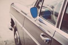 Retro samochodowy lustro Zdjęcie Royalty Free