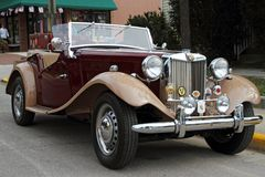 retro samochodu mg Fotografia Royalty Free