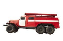 Retro samochodu strażackiego ratunek odizolowywający Obrazy Stock