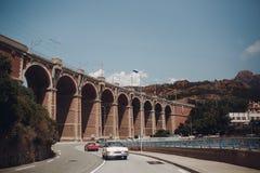 Retro samochodu wiec Francuski Riviera Ładny - Cannes - święty miejsca przeznaczenia szkła target885_0_ mapy podróż zdjęcia royalty free