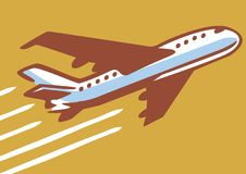 Retro samolot royalty ilustracja