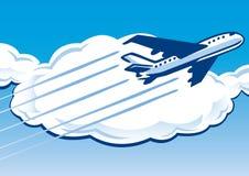 Retro samolot ilustracja wektor