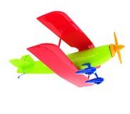 Retro samolot odizolowywający na bielu Obrazy Stock