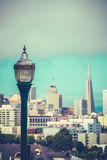 Retro San Francisco Skyline Royalty Free Stock Photography