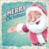 Retro Santa Claus kort Royaltyfri Foto