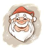 Retro Santa Claus Looking Jolly fotografia stock libera da diritti