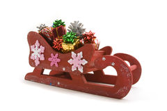Retro Santa Sleigh Stock Photography