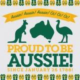 Retro sash Australia Day card Stock Photo