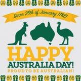 Retro sash Australia Day card Royalty Free Stock Photography