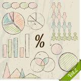 Retro- Satz infographic Elemente. Lizenzfreies Stockbild