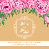Retro Save the Date card Stock Photo