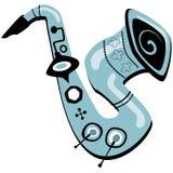 Retro Saxophone Illustration royalty free illustration