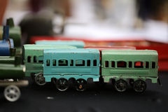 Retro scale model of wagons Royalty Free Stock Photos