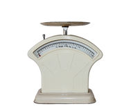Retro scales. Retro imperial kitchen scales weighing in pounds and ounces Royalty Free Stock Photography
