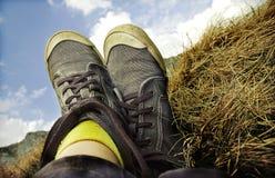 Retro scarpe da tennis designate Fotografia Stock