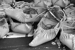 Retro scarpe di cuoio Immagini Stock
