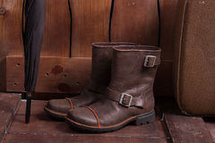 Retro scarpe ed accessori del secolo scorso Immagini Stock Libere da Diritti