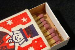 Retro scatola di fiammiferi Immagine Stock Libera da Diritti