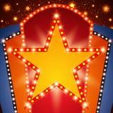 Retro sceny jaśnienia gwiazdy sztandaru tło Obrazy Royalty Free