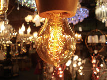 Retro- schönes Haus des elektrischen Lichtes Stockfotografie