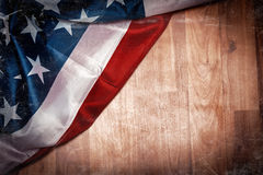 Retro- Schablone der amerikanischen Flagge der Schmutzart Stockbilder