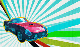 Retro- schauender Roadster Stockfotos
