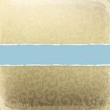 Retro scheda decorativa dorata Immagini Stock