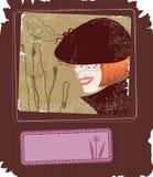 Retro scheda di stile illustrazione di stock