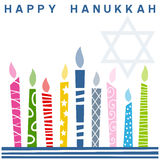 Retro scheda felice di Hanukkah Fotografia Stock Libera da Diritti