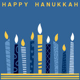 Retro scheda felice di Hanukkah [2] Fotografia Stock Libera da Diritti
