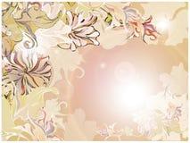 Retro scheda floreale Fotografia Stock
