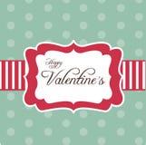 Retro scheda per il giorno del biglietto di S. Valentino Immagini Stock Libere da Diritti