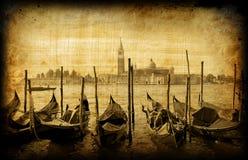 Retro scheda, vecchia Venezia italiana Immagine Stock Libera da Diritti