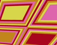 Retro scheefgetrokken vierkantenontwerp Royalty-vrije Stock Foto's