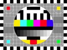 Retro scherm van TV - vector toegevoegd dossier stock illustratie