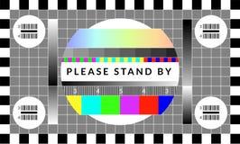 Retro schermo della prova della TV Vecchio modello del grafico del chip di calibratura illustrazione vettoriale