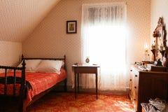 Retro- Schlafzimmer Lizenzfreie Stockfotografie