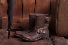 Retro schoenen en toebehoren van de laatste eeuw Royalty-vrije Stock Afbeeldingen