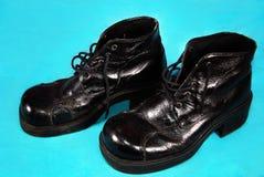 Retro schoenen van mensen Royalty-vrije Stock Foto's