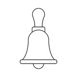 Retro school bell handle thin line Royalty Free Stock Image