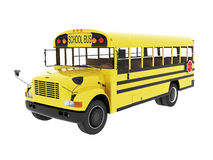Retro school bus Royalty Free Stock Photo