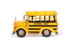 Retro school bus model. Royalty Free Stock Photos