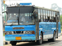 Retro schoolbus Stock Afbeelding