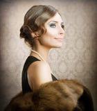 Retro Schoonheid Royalty-vrije Stock Foto