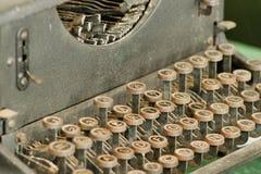 Retro- Schreibmaschine der Weinlese Lizenzfreies Stockbild
