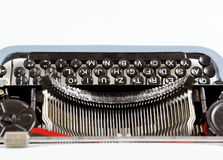 Retro- Schreibmaschinenabschluß oben mit Detail von Schlüsseln Stockbilder