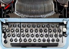 Retro Schreibmaschinenabschluß oben mit Detail von Tasten Lizenzfreies Stockfoto