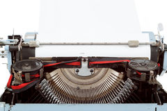 Retro- Schreibmaschinenabschluß oben mit eingeführtem Papier Lizenzfreies Stockbild